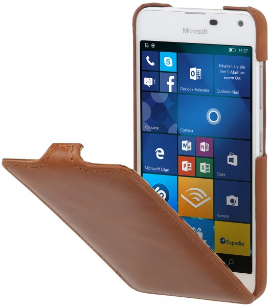 StilGut - Lumia 650 Hülle UltraSlim aus Leder