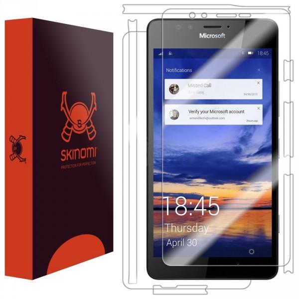 Skinomi - Displayschutzfolie Lumia 950 TechSkin Vorder- und Rückseite