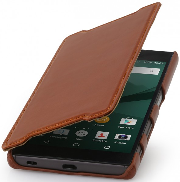 StilGut - Xperia Z5 Tasche Book Type aus Leder ohne Clip