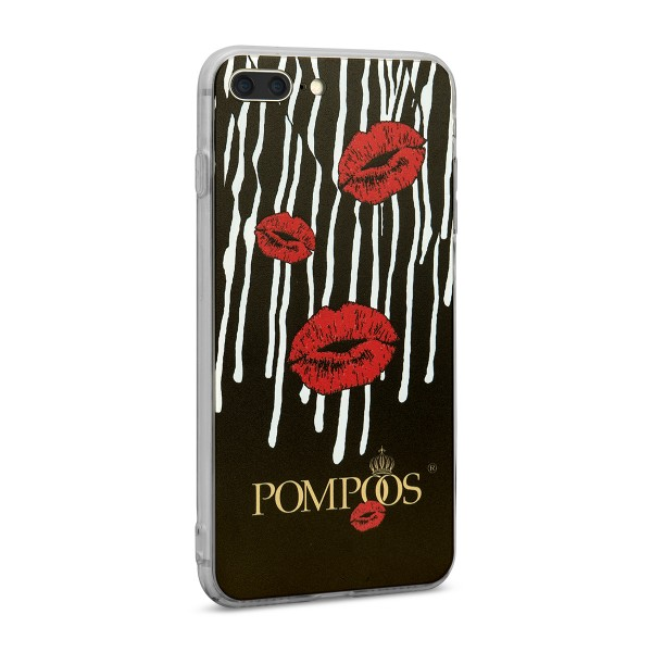 POMPÖÖS by StilGut - iPhone 8 Plus Cover Kuss - Design by HARALD GLÖÖCKLER