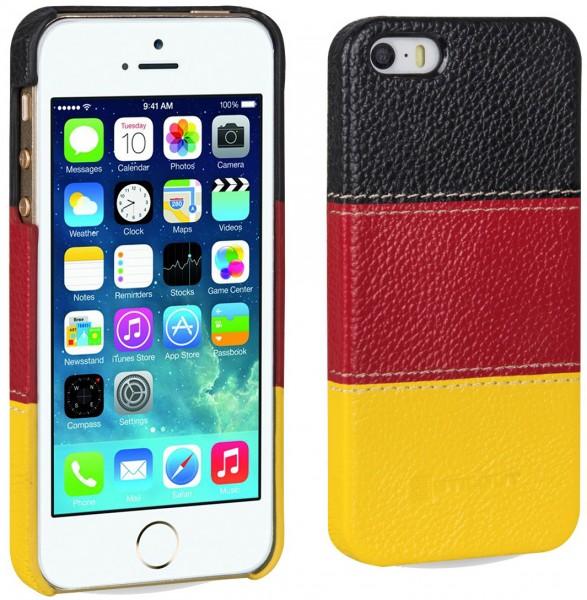 """StilGut - Cover aus Leder """"Deutschland-Edition"""" für iPhone 5 & 5s"""