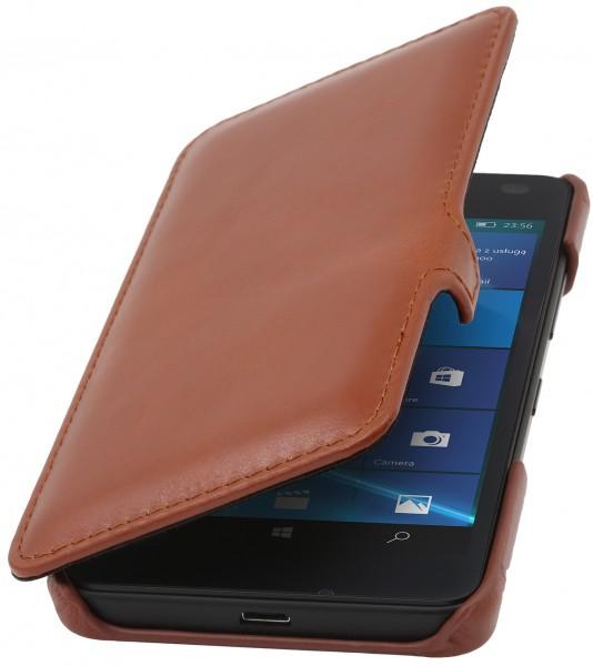 StilGut - Lumia 550 Tasche Book Type aus Leder mit Clip
