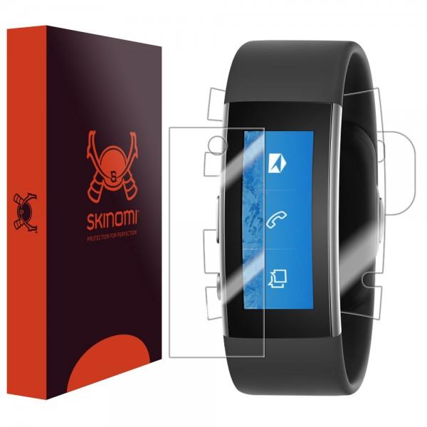 Skinomi - Displayschutzfolie Microsoft Band 2 TechSkin Vorder- und Rückseite