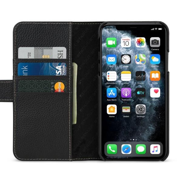 StilGut - iPhone 11 Pro Max Flip Cover Talis mit Kartenfach