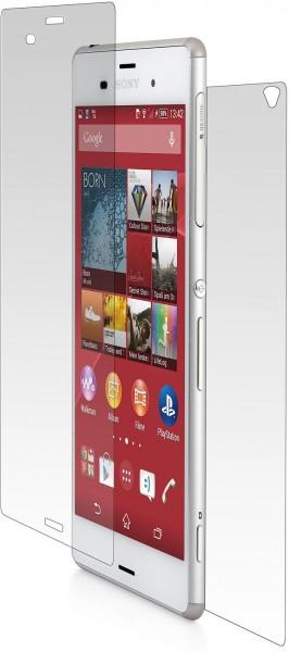 StilGut - Panzerglasfolie für Sony Xperia Z3 für Vorder- und Rückseite