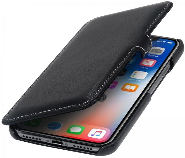 StilGut - iPhone X Tasche Book Type mit Clip