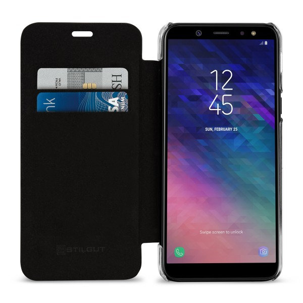 StilGut - Samsung Galaxy A6 (2018) Book Type NFC/RFID Blocking Hülle