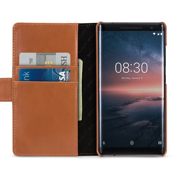 StilGut - Nokia 8 Sirocco Hülle Talis mit Kreditkartenfach