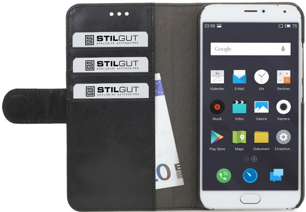 "StilGut - Meizu MX5 Hülle ""Talis"" mit Kreditkartenfach"