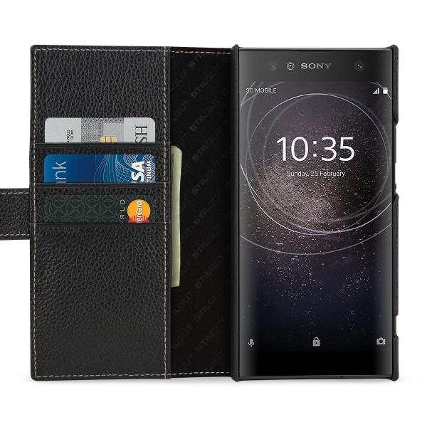 StilGut - Sony Xperia XA2 Ultra Hülle Talis mit Kreditkartenfach