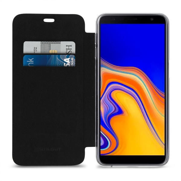 StilGut - Samsung Galaxy J6 Plus Book Type NFC/RFID Blocking Hülle