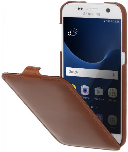 StilGut - Samsung Galaxy S7 Hülle UltraSlim aus Leder