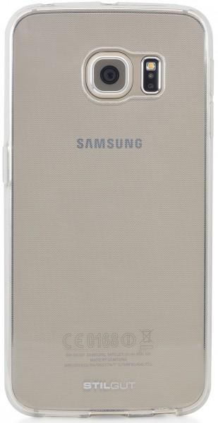 StilGut - Ghost, Schutzhülle inkl. Schutzfolie für Galaxy S6 edge