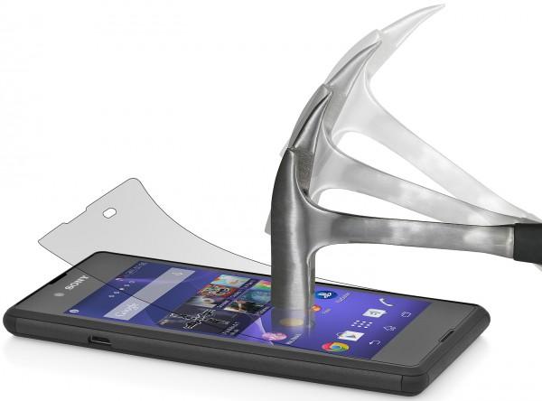 StilGut - Displayschutzfolie Panzerglas für Sony Xperia E3 (2er-Pack)