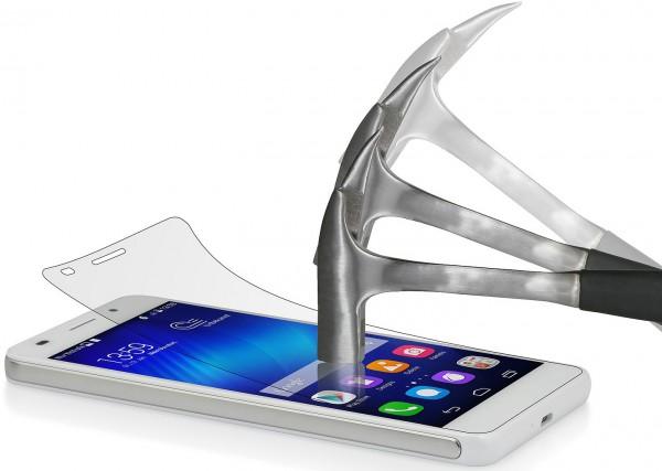 StilGut - Displayschutzfolie Panzerglas für Huawei Honor 6 (2er-Pack)