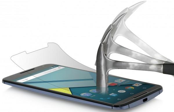 """StilGut - Displayschutzfolie """"Panzerglas"""" für Google Nexus 6 2er-Pack"""