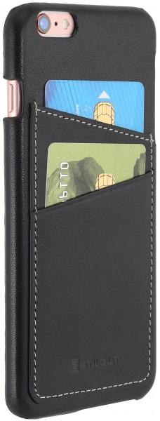 StilGut - iPhone 6s Plus Cover aus Leder mit Kreditkartenfach