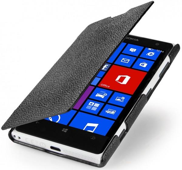 StilGut - Ledertasche Book Type für Nokia Lumia 1020