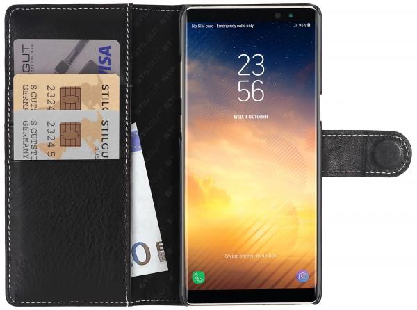StilGut - Samsung Galaxy Note 8 Hülle Talis mit Kreditkartenfach