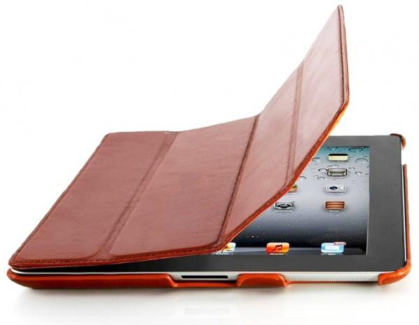 StilGut - Couverture Case aus Leder für iPad 2