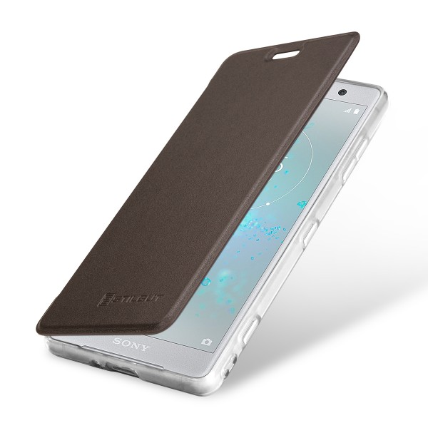 StilGut - Sony Xperia XZ2 Compact Book Type NFC/RFID Blocking Hülle