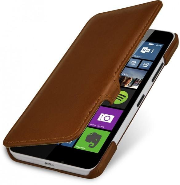 """StilGut - Handyhülle für Lumia 640 """"Book Type"""" mit Clip (Orange/Blau)"""